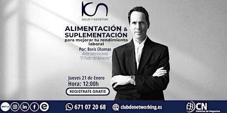 """KCN SALUD Y BIENESTAR - """"Alimentación y Suplementación"""" entradas"""