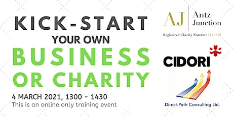 Kick-Start Your Own Business or Charity (4 March 2021) tickets