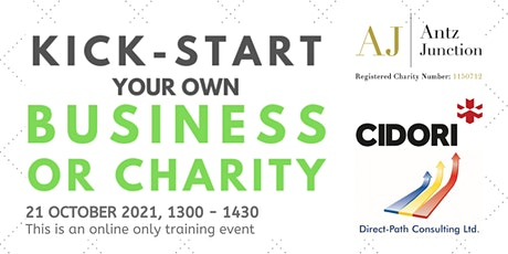 Kick-Start Your Own Business or Charity (21 October 2021) tickets