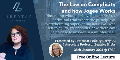 The Law on Complicity and how Jogee Works tickets