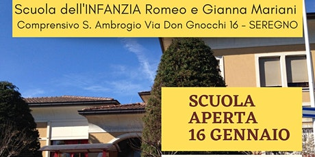 OPEN DAY SCUOLA INFANZIA S. AMBROGIO SEREGNO - SABATO 16 GENNAIO 2021 biglietti