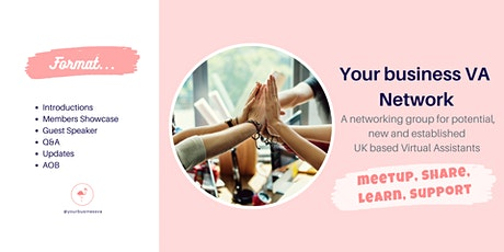 Your business VA Network - Networking with other UK Virtual Assistants! tickets