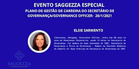 EVENTO SAGGEZZA- PLANO DE GESTÃO DE CARREIRA DO SECRETÁRIO DE GOVERNANÇA ingressos