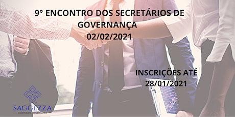 9° ENCONTRO DOS SECRETÁRIOS DE GOVERNANÇA ingressos