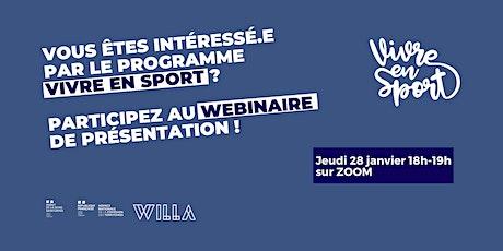 Webinaire Présentation du programme Vivre en Sport billets