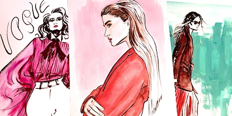 Watercolour Fashion Illustration - Live Art Lesson with Rebecca Feneley tickets