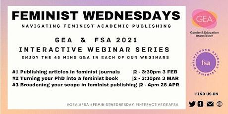 Feminist Wednesdays: Publish Articles in Feminist Journals tickets