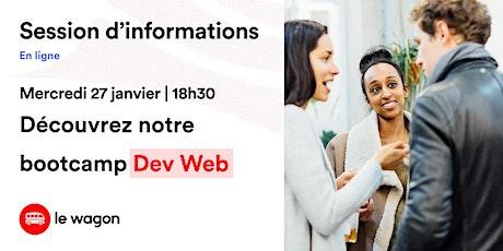 Session d'information le Wagon Bordeaux le 27 janvier  - Apprendre à coder billets