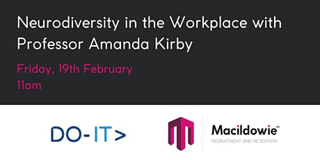Neurodiversity in the Workplace with  Professor Amanda Kirby tickets