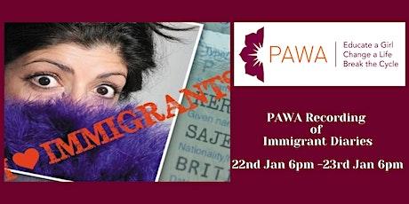 PAWA Recording of  IMMIGRANT DIARIES-- Sajeela Kershi & Guests tickets