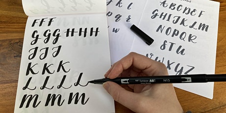 Online Beginners Brush Calligraphy Class tickets