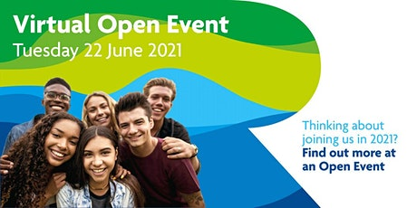 Virtual Open Event Tuesday 22 June 2021 tickets