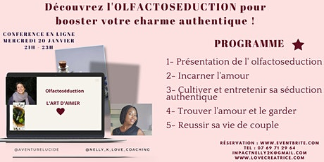 Découvrez l'OLFACTOSEDUCTION pour booster votre charme authentique !!! billets