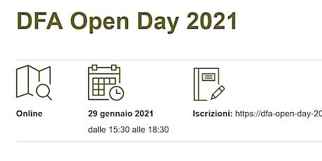 DFA Open Day 2021 biglietti