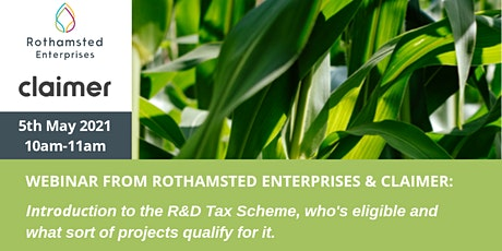 Rothamsted Enterprises Webinar: Introduction to the R&D Tax Scheme tickets