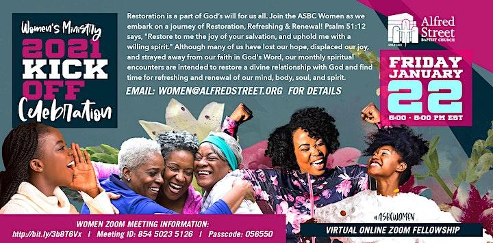 ASBC Women's Ministry 2021 Kickoff Celebration image
