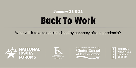Back to Work: A National Issues Forum virtual convening (Daytime) tickets