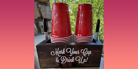 Wooden Party Cup Holder: Sip and Craft at Magnanini Winery!!! tickets