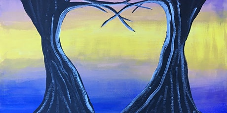 """Paint and Sip Online Webinar """"Trees of Love"""" tickets"""