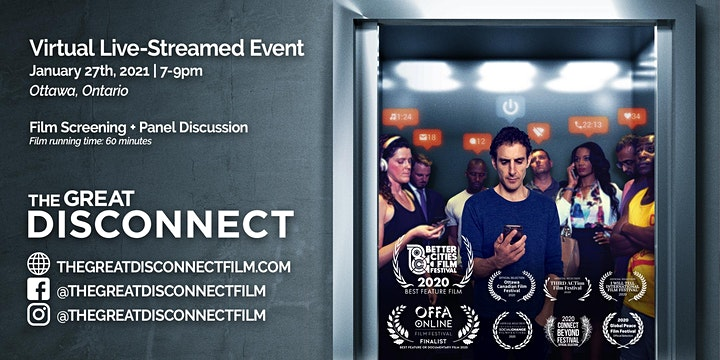 Ottawa Virtual Screening of The Award Winning Film - The Great Disconnect image