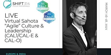 """ONLINE Live Sahota """"Agile"""" Culture & Leadership (CAL1/CAL-E and CAL-O): EU tickets"""