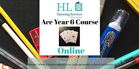 Online Tues Ace Year 6  Course (Primary KS2) 6 x 1hour lesson tickets