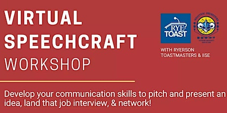 Ryerson Toastmasters x IISE Speechcraft Workshop tickets