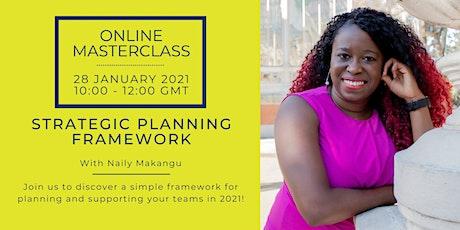 Strategic Planning Framework tickets