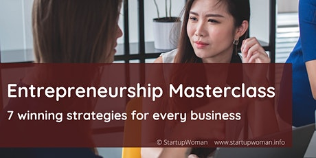 Masterclass Entrepreneurship: 7 winning strategies for every business tickets