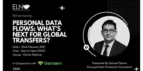 Gemserv - Personal Data Flows: What's Next For Global Transfers? tickets