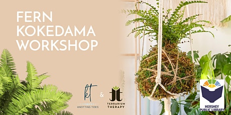 Fern Kokedama and Macrame Hanger Workshop tickets