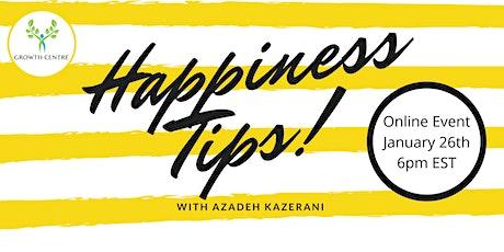 Happiness Tips! with Azadeh Kazerani tickets