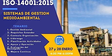Sistemas de Gestión Ambiental ISO-14001:2015 boletos