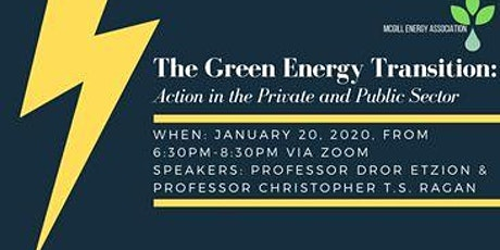 The Green Energy Transition: Action in the Private and Public Sector tickets