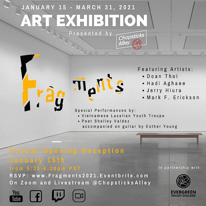 "Chopsticks Alley Art - ""Fragments"" Exhibit Opening image"