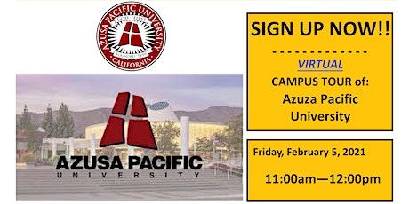 Azusa Pacific University Virtual Campus Tour - TELACU Veterans Upward Bound tickets