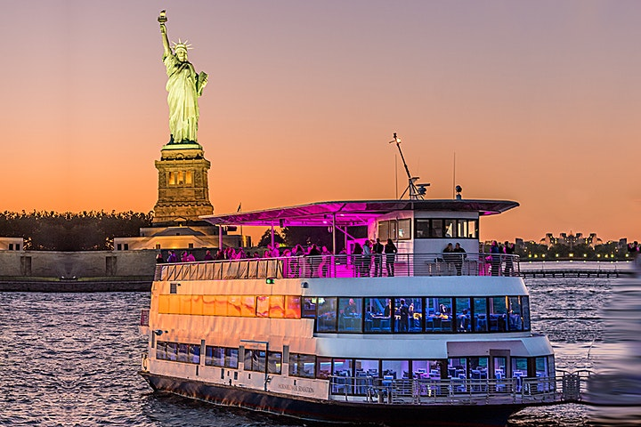 BOOZE CRUISE PARTY CRUISE  NEW YORK CITY VIEWS  OF STATUE OF LIBERTY image