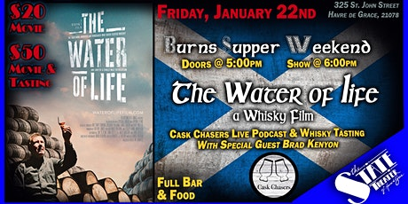 Movie Screening: The Water of Life Film & Live Cask Chasers Podcast/Tasting tickets