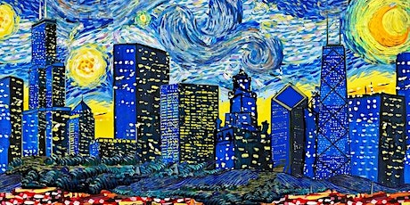 Virtual Painting Experience: Chicago Starry Night tickets