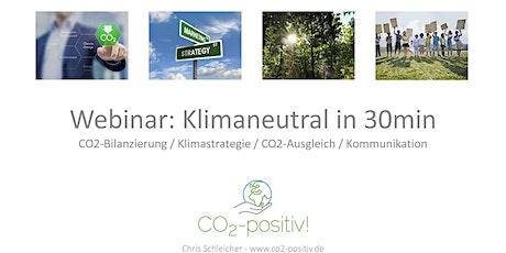 Klimaneutral in 30min für Geschäftsführer*innen Tickets