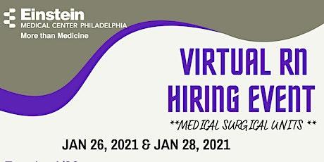 EHN - RN Virtual Hiring Event - Liver/Transplant Med/Surg tickets
