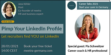 Career Talks: How to be found on LinkedIn instead of looking for jobs tickets