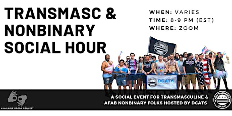 Transmasculine & Nonbinary Social Hour tickets