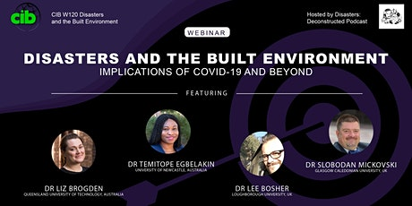 Disasters and the Built Environment: Implications of COVID-19 and Beyond tickets