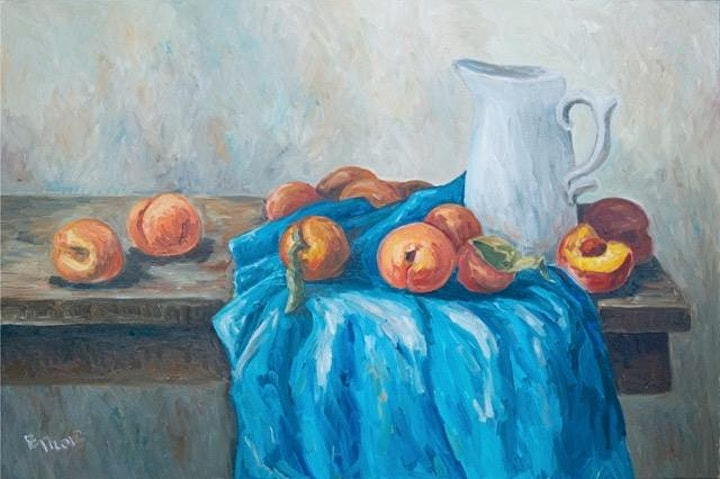 Peaches in Soft Pastel Art Class image