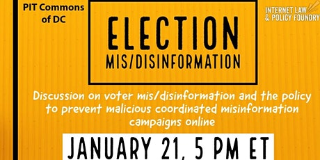 Election Mis/Disinformation tickets