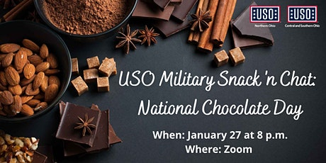 USO Military Spouse Snack 'n Chat: National Chocolate Day tickets