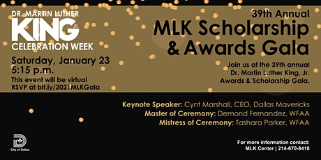 2021 Dr. Martin Luther King Jr. Scholarship & Awards VIRTUAL Gala tickets