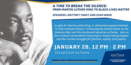 A Time to Break the Silence: From Martin Luther King to Black Lives Matter tickets