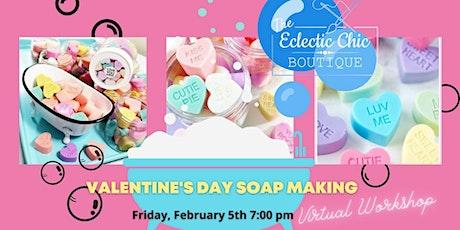 Valentine Melt & Pour Soap Making Virtual Workshop tickets